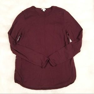J. Jill purple merino wool long sleeve shirt small
